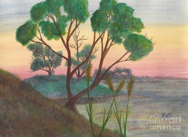Watercolor Art Print featuring the painting Taking A Moment... by Robert Meszaros