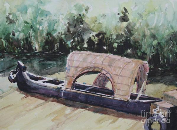 Landscape Art Print featuring the painting The Boat by Gayatri Vasudevan