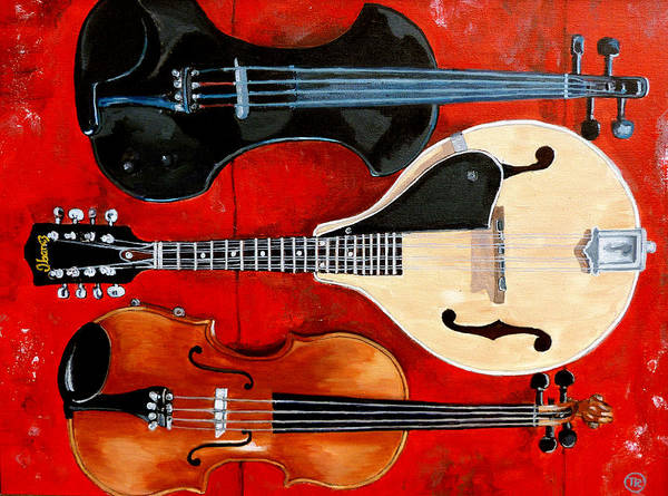 Violin Art Print featuring the painting The Boys by Tom Roderick