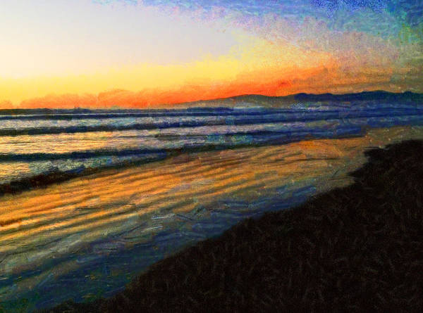 Crack Of Dawn Art Print featuring the photograph The Painted Waves Of Dawn by Steve Taylor