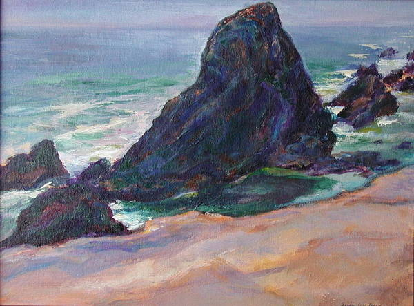 Seascape Art Print featuring the painting The Seal Rock March by Quin Sweetman