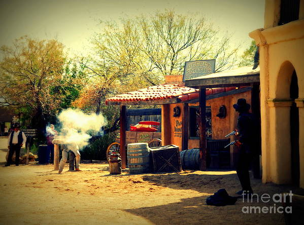 Old Tuscon Art Print featuring the photograph The Wild Wild West by Susanne Van Hulst