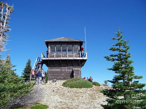 Tolmie Peak Art Print featuring the photograph Tolmie Peak Lookout by Charles Robinson
