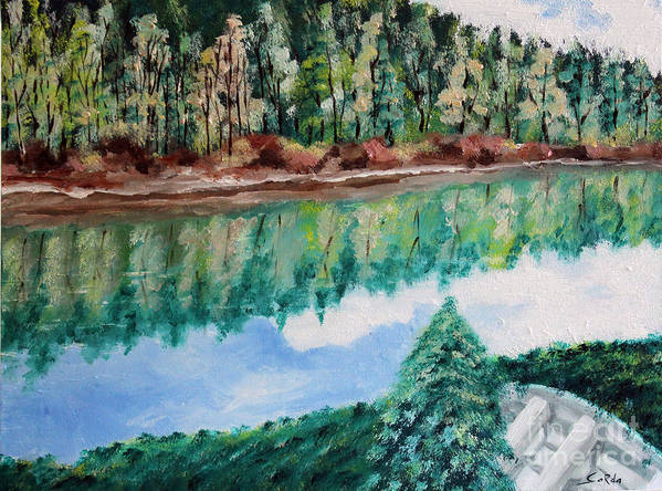 Landscape Oil Paintings Art Print featuring the painting Tranquility by Seth Corda
