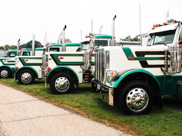 Trucks Art Print featuring the photograph Trucks by Wayne Stabnaw