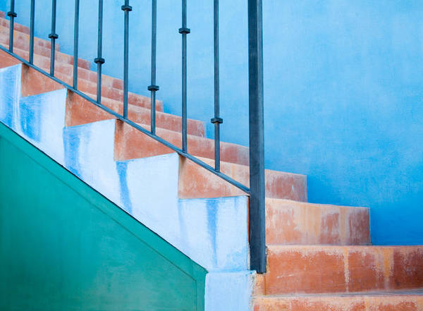 Architecture Art Print featuring the photograph Walking Up by Eggers Photography