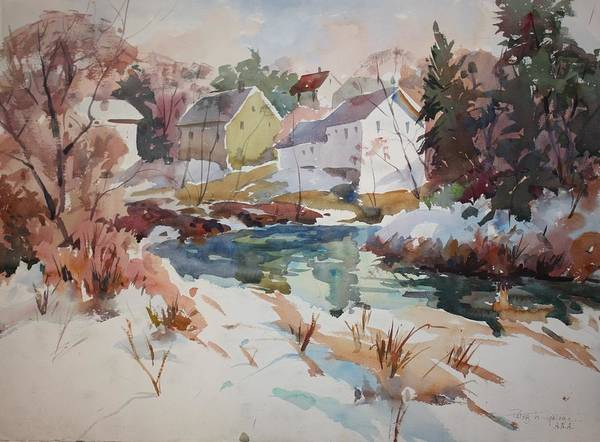 Watercolor Art Print featuring the painting Watercolor by Peter Spataro