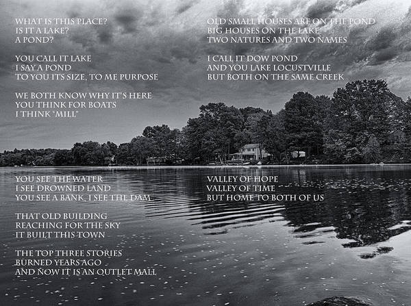 Poem Art Print featuring the photograph What Is This Place by Joshua House