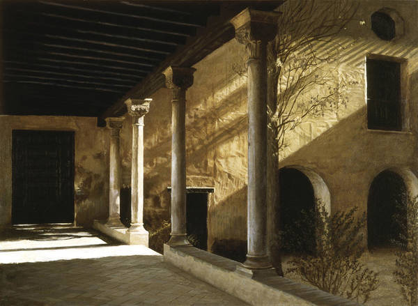 Alhambra Art Print featuring the painting Yellow Wall by Rohan Lowe