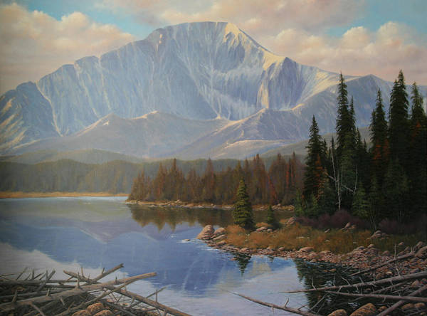 Pikes Peak Art Print featuring the painting 080625-3648 Holding On To Summer by Kenneth Shanika