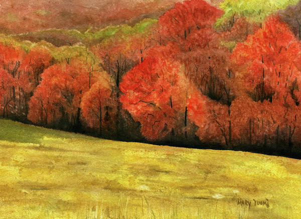 Autumn Art Print featuring the painting Autumn Splendor by Mary Tuomi