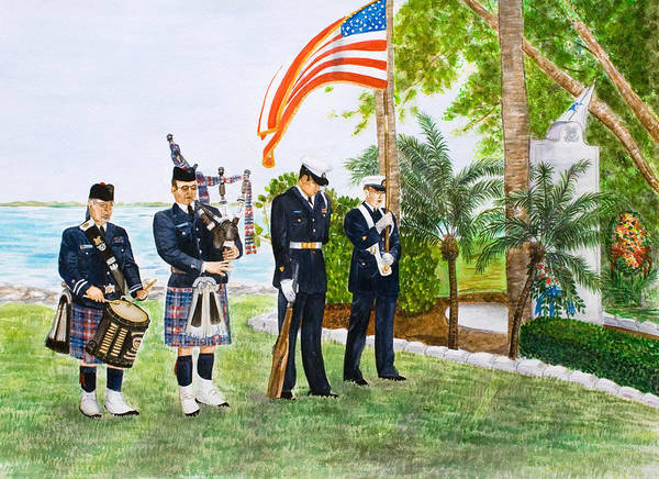 Coast Guard Art Print featuring the painting Blackthorn Memorial by Dorothy Riley
