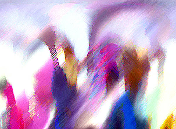 Digital Media Art Print featuring the painting Color Dance by Anil Nene
