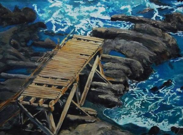 Dock Art Print featuring the painting Dock by Travis Day