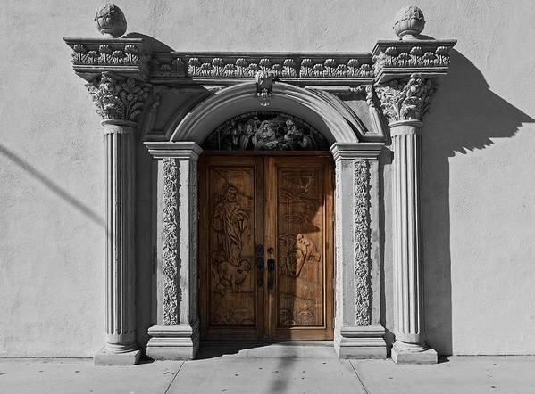 Texas Art Print featuring the photograph Doorway Of The Santa Teresa De Jesus Church by Mountain Dreams