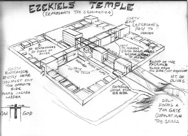 Ezekiels Temple Art Print By Mark Nunes