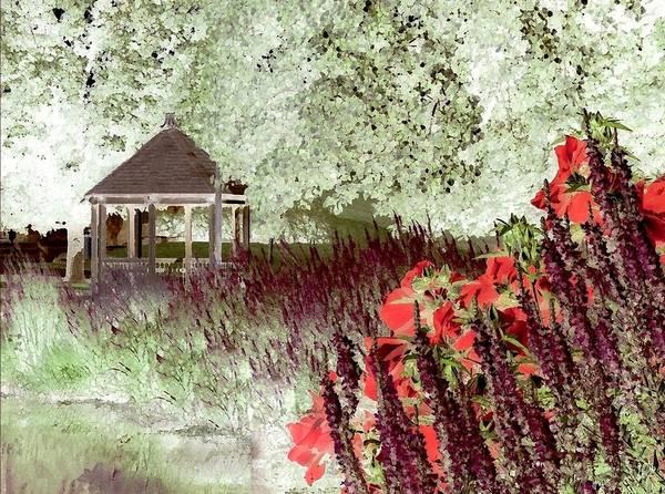 Gazebo Art Print featuring the photograph Gazebo Scenic by Jim Darnall