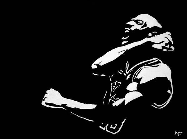 Michael Jordan Art Print featuring the painting Greatness by Matthew Formeller