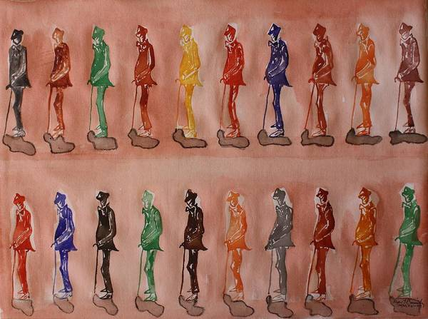 Multiple Art Print featuring the painting James Joyce The Pluralist by Roger Cummiskey