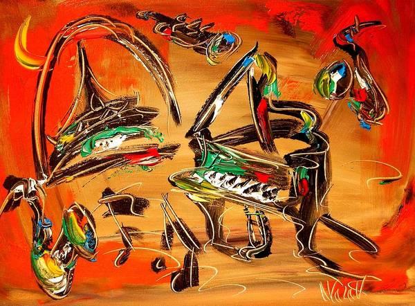New York Art Print featuring the painting Jazz by Mark Kazav