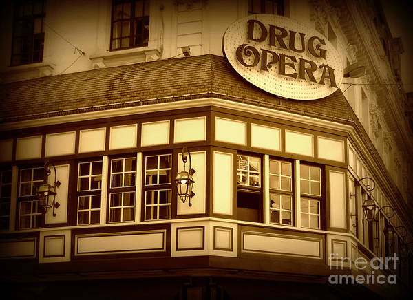 Drug Opera Art Print featuring the photograph Restaurant Sign In Brussels by Carol Groenen