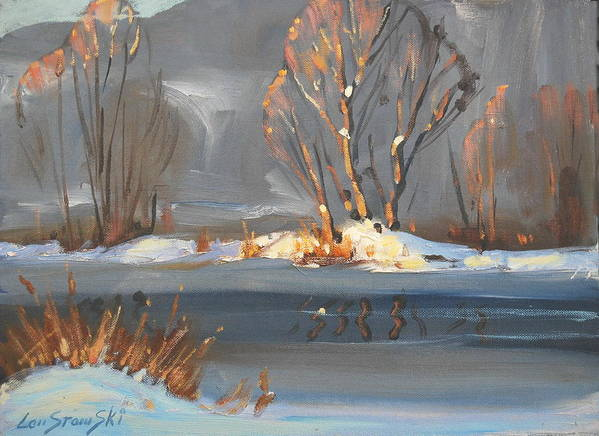 Berkshire Hills Paintings Art Print featuring the painting Sunlight Study by Len Stomski