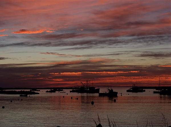 Landscape Art Print featuring the photograph Sunrise Rye Nh by Christine Russell