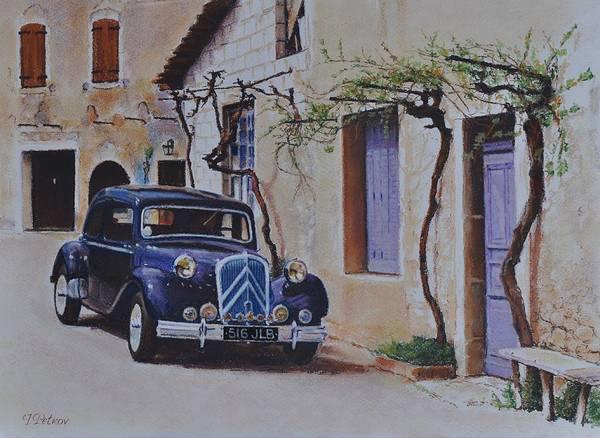 Classic Cars Art Print featuring the painting 1951's Citroen by Iliyan Bozhanov