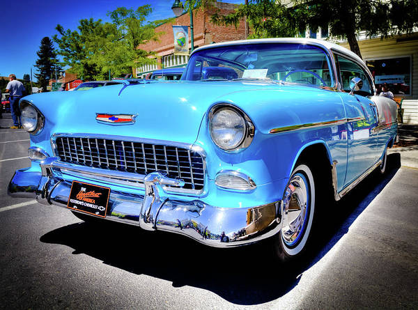 1955 Chevy Baby Blue Art Print featuring the photograph 1955 Chevy Baby Blue by David Patterson