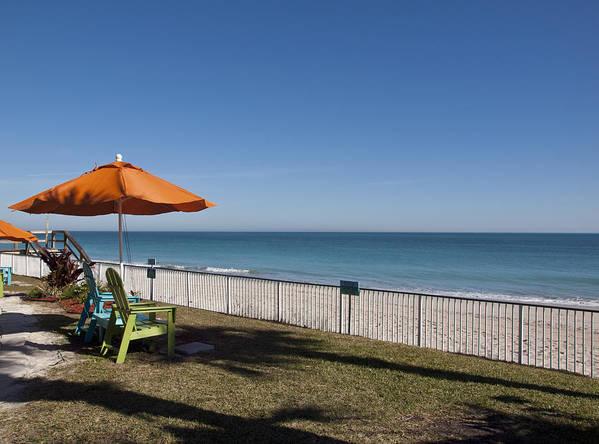 Florida Art Print featuring the photograph Beachland Boulevard At Vero Beach In Florida by Allan Hughes