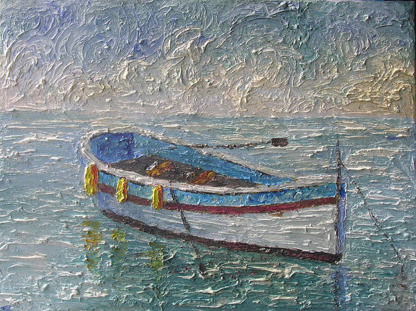 Boat Art Print featuring the painting Boat Of Provence by Frederic Payet