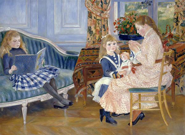 Pierre-auguste Renoir Art Print featuring the painting Children's Afternoon At Wargemont by Pierre-Auguste Renoir