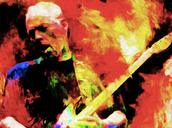David Gilmour Art Print featuring the painting Gilmour Nixo by Never Say Never