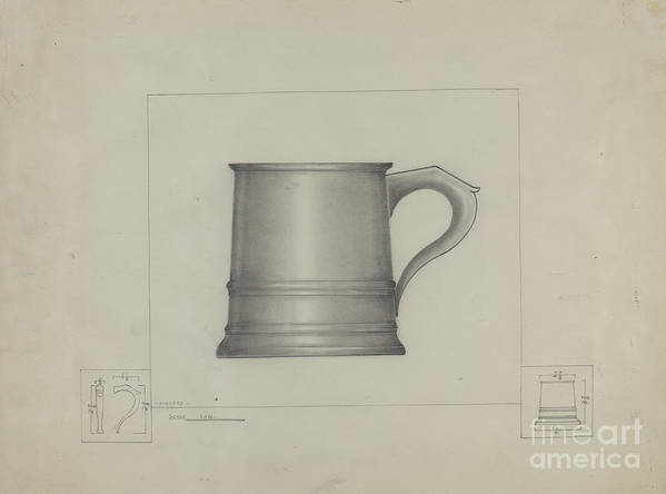 Art Print featuring the drawing Pewter Mug by Henry Meyers