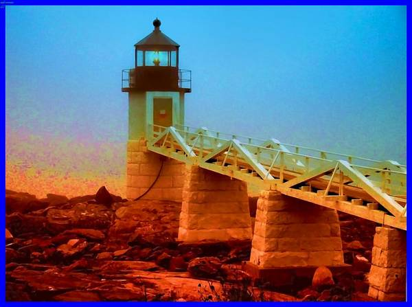 Lighthouse Art Print featuring the photograph 3600001 Maine Lighthouse by Ed Immar