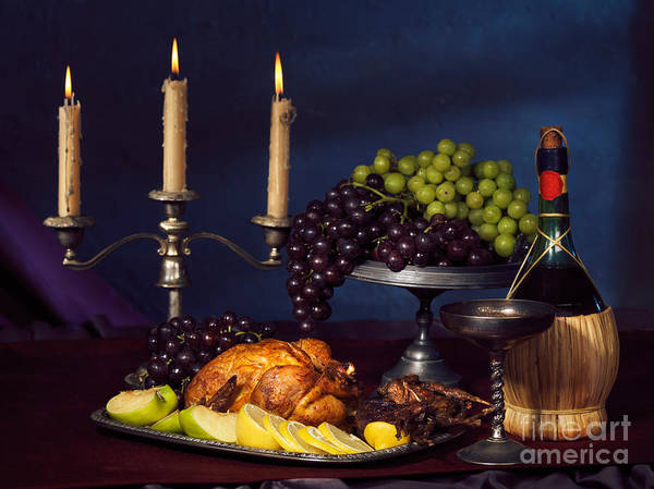 Feast Print featuring the photograph Artistic Food Still Life by Oleksiy Maksymenko