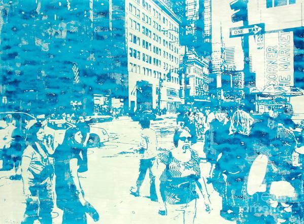 Silkscreen Art Print featuring the painting 665 Fifth Avenue New York City by Jonathan Deutsch