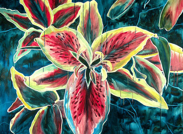 Floral Painting Art Print featuring the painting A New Day by Jennifer McDuffie