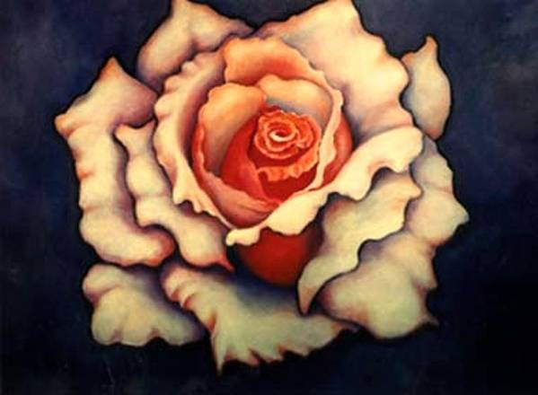 Flower Art Print featuring the painting A Rose by Jordana Sands