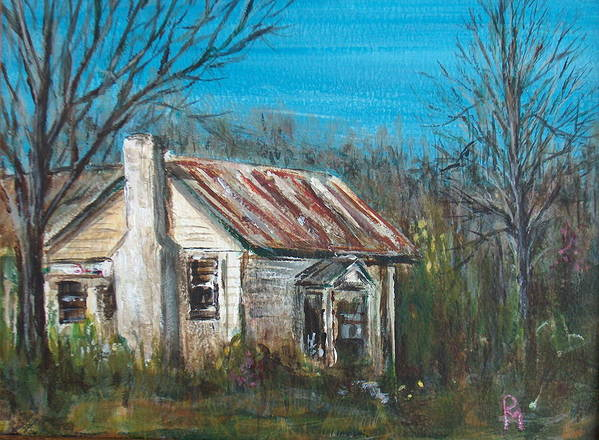 House Art Print featuring the painting Abandoned by Pete Maier