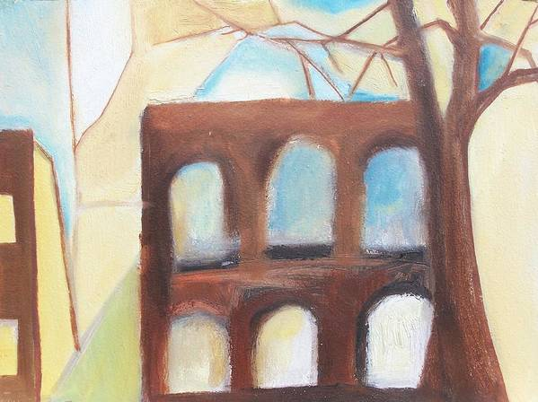 Abstract Art Print featuring the painting Abandoned by Ron Erickson