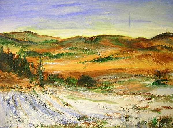 Landscape Art Print featuring the painting Aberdeen Winter Landscape by Lizzy Forrester