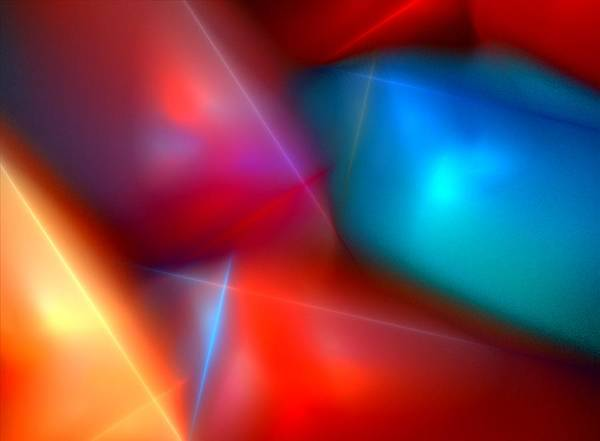 Digital Painting Art Print featuring the digital art Abstract 060110 by David Lane