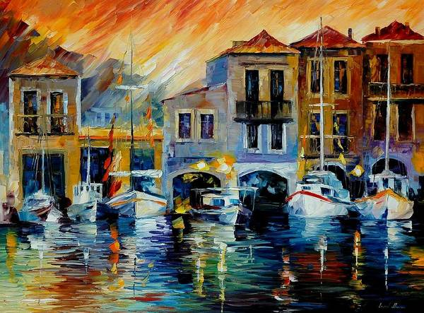 Afremov Art Print featuring the painting After A Day's Work by Leonid Afremov