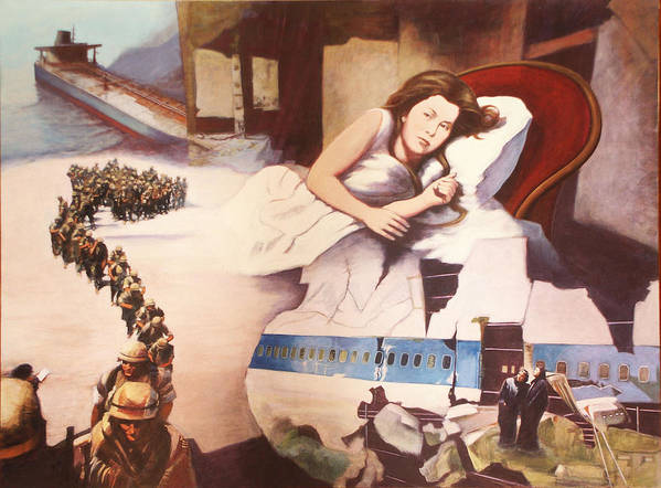 Lewis Caroll's Alice Art Print featuring the painting After Alice by James LeGros