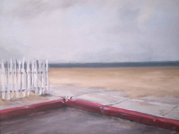 Rain Newport Beach Art Print featuring the painting After The Rain Newport Beach by Philip Fleischer