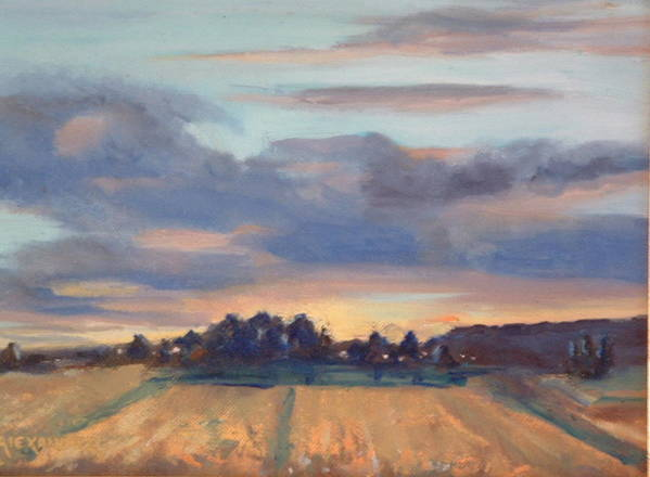 Landscape Art Print featuring the painting After The Storm by Bryan Alexander