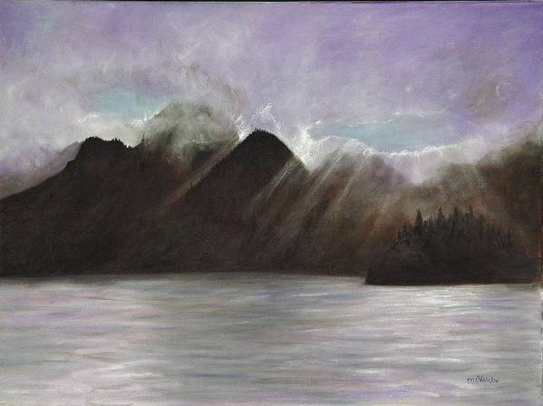 Waterscape Art Print featuring the painting Alaskan Morning by Merle Blair