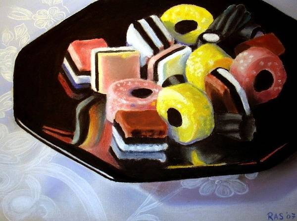 Still Life Art Print featuring the painting Allsorts I by Rose Sciberras