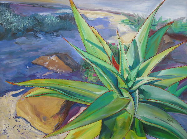 Plants Art Print featuring the painting Aloe Vera Number Two by Karen Doyle